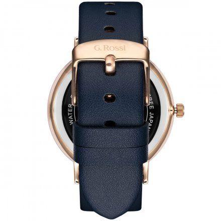 Zegarek damski G.Rossi różowozłoty z granatowym paskiem G.R12600A-6F3