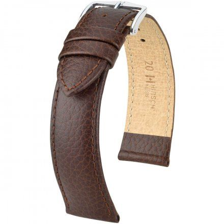 Brązowy pasek skórzany 20 mm HIRSCH Kansas 01502210-2-20 (XL)