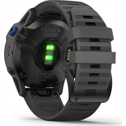 Zegarek Garmin Fenix 6 PRO Solar z szarym paskiem 010-02410-11