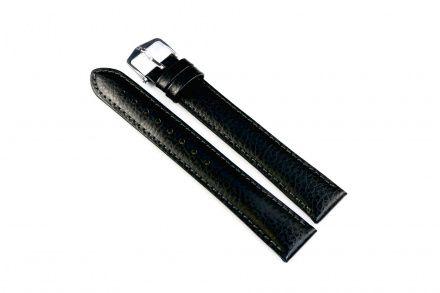 Czarny pasek skórzany 20 mm HIRSCH Kansas 01502250-2-20 (XL)