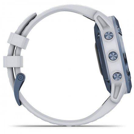 Zegarek Garmin Fenix 6 PRO Solar Tytan z białym paskiem 010-02410-19