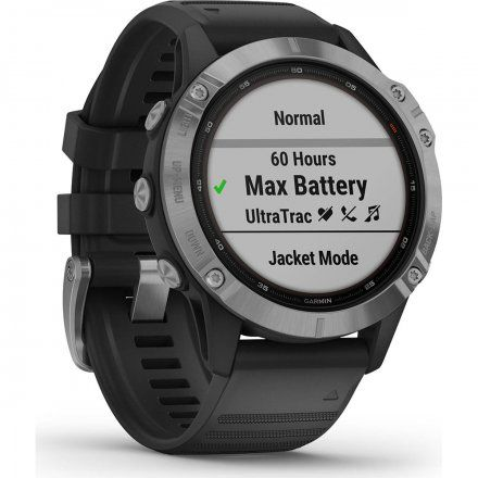 Zegarek Garmin Fenix 6 Solar z czarnym paskiem 010-02410-00