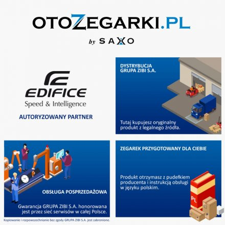 Zegarek Męski Casio Edifice Premium EQB-1100XDB-2AER Edifice Premium