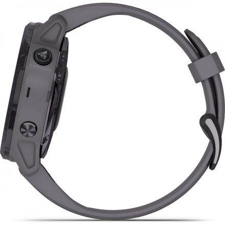 Zegarek Garmin Fenix 6S PRO Solar z szarym paskiem 010-02409-15