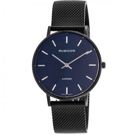 Zegarek damski Rubicon czarny z bransoletą RNBD76BIDX03BX