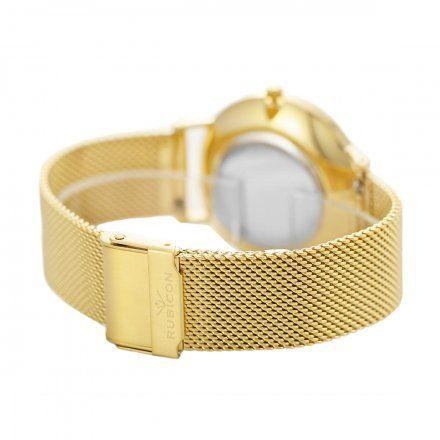 Zegarek damski Rubicon złoty z bransoletą RNBD76GIGX03B1