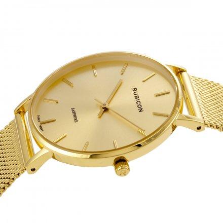 Zegarek damski Rubicon złoty z bransoletą RNBD76GIGX03BX