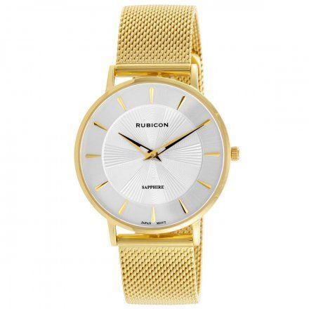 Zegarek damski Rubicon złoty z bransoletą RNBD76GISX03B3
