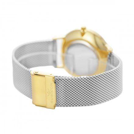 Zegarek damski Rubicon srebrny z bransoletą RNBD76GISX03B4