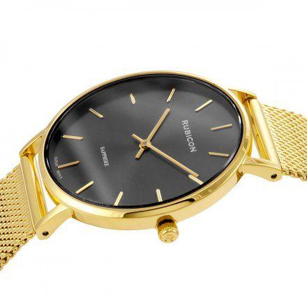 Zegarek damski Rubicon złoty z bransoletą RNBD76GIVX03BX