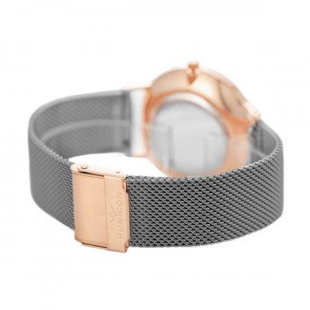 Zegarek damski Rubicon szary z bransoletą RNBD76RIVX03BX