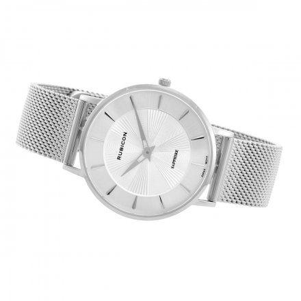 Zegarek damski Rubicon srebrny z bransoletą RNBD76SISX03B3
