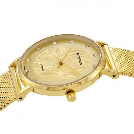 Zegarek damski Rubicon złoty z bransoletą RNBD88GIGX03BX