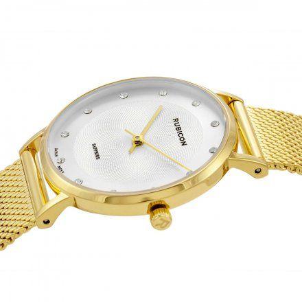 Zegarek damski Rubicon złoty z bransoletą RNBD88GISX03B1