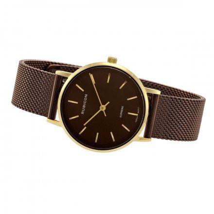 Zegarek damski Rubicon brązowy z bransoletą RNBD88GIYX03BX