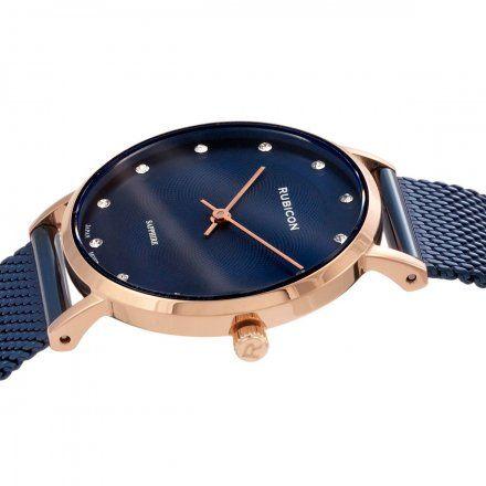 Zegarek damski Rubicon granatowe z bransoletą RNBD88RIDX03BX