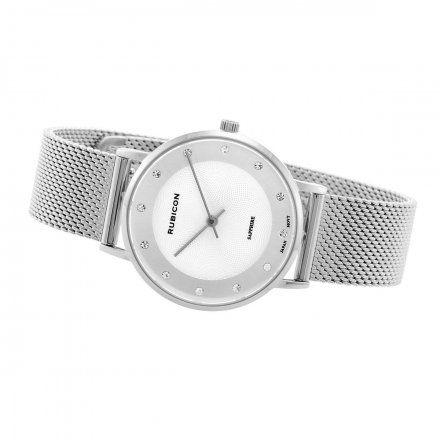 Zegarek damski Rubicon srebrny z bransoletą RNBD88SISX03BX