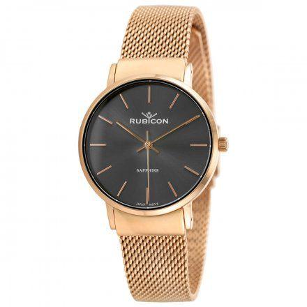 Zegarek damski Rubicon różowozłoty z bransoletą RNBE28RIVX03BX