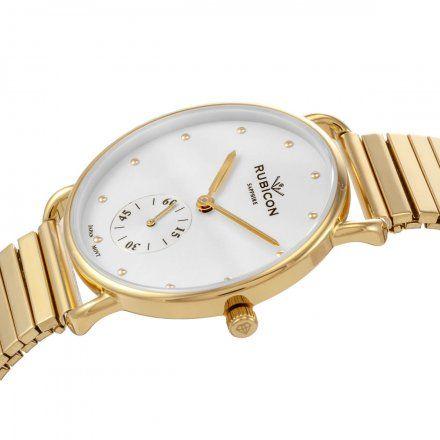 Zegarek damski Rubicon złoty z bransoletą RNBE29GISX03BX