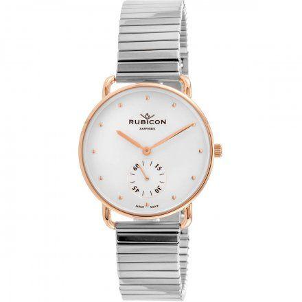 Zegarek damski Rubicon srebrny z bransoletą RNBE29RISX03BX