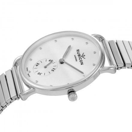 Zegarek damski Rubicon srebrny z bransoletą RNBE29SISX03BX
