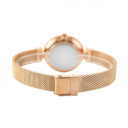 Zegarek damski Rubicon różowozłoty z bransoletą RNBE30RISX03BX