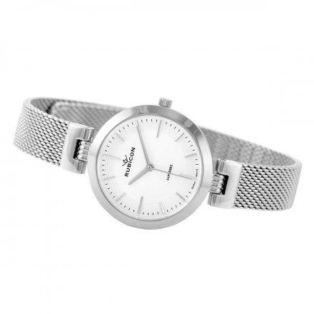 Zegarek damski Rubicon srebrny z bransoletą RNBE30SISX03BX