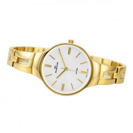 Zegarek damski Rubicon złoty z bransoletą RNBE31GISX03BX