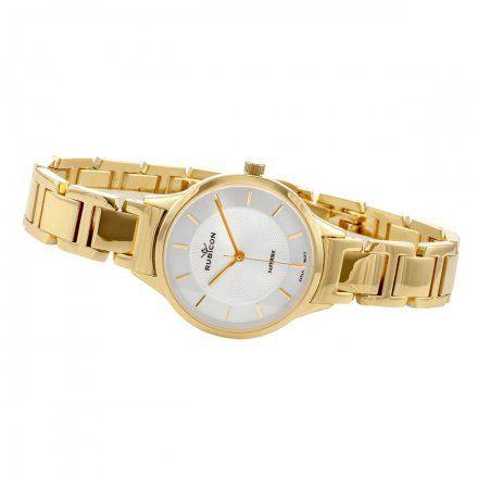 Zegarek damski Rubicon złoty z bransoletą RNBE32GISX03BX