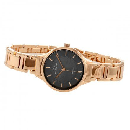 Zegarek damski Rubicon różowozłoty z bransoletą RNBE32RIVX03BX