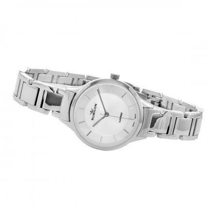 Zegarek damski Rubicon srebrny z bransoletąRNBE32SISX03BX