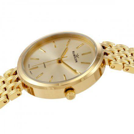 Zegarek damski Rubicon złoty z bransoletą RNBE33GIGX03BX