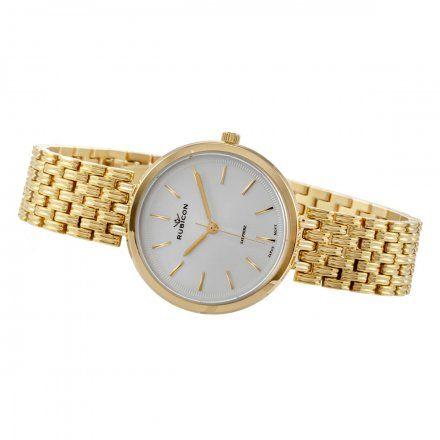 Zegarek damski Rubicon złoty z bransoletą RNBE33GISX03BX