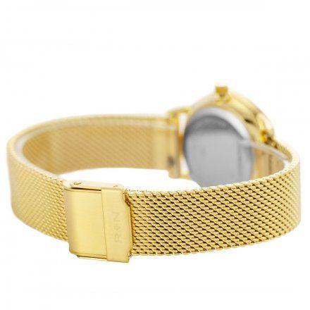 Zegarek damski Rubicon złoty z bransoletą RNBE35GISX03BX