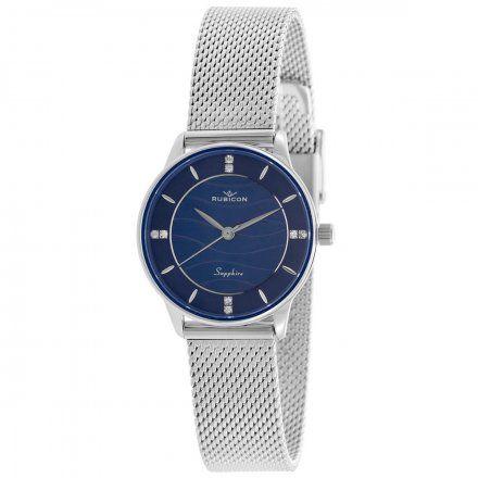 Zegarek damski Rubicon srebrny z bransoletą RNBE35SIDX03BX