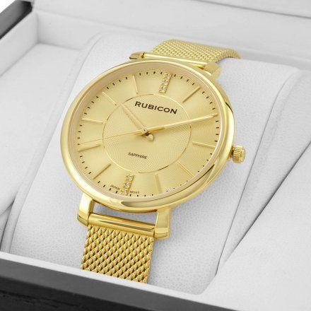Zegarek damski Rubicon złoty z bransoletą RNBE51GIGX03BX