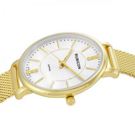 Zegarek damski Rubicon złoty z bransoletą RNBE51GISX03BX