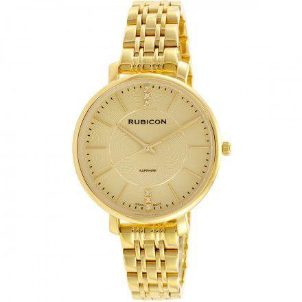 Zegarek damski Rubicon złoty z bransoletą RNBE52GIGX03BX