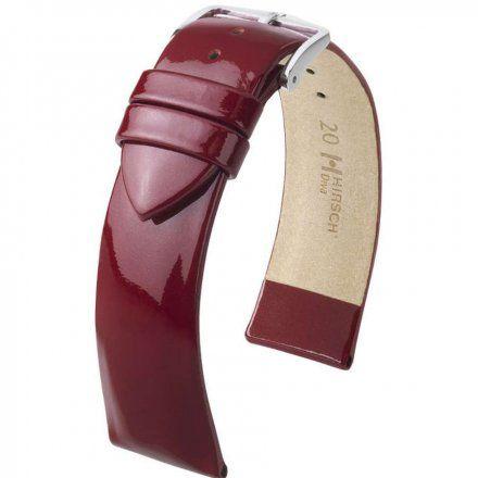 Bordowy pasek skórzany 18 mm HIRSCH Diva 01536160-2-18 (M)