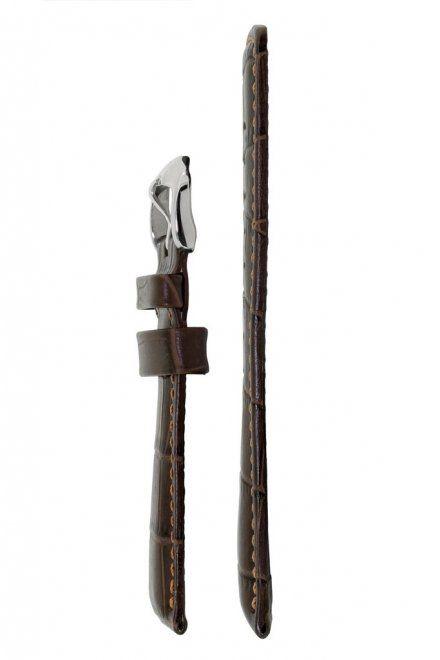 Brązowy pasek skórzany 22 mm HIRSCH Grand Duke 02528010-2-22 (L)