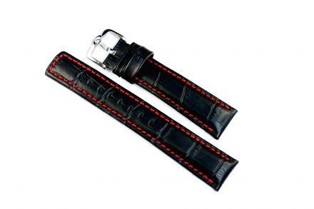Czarny pasek skórzany 18 mm HIRSCH Grand Duke 02528050-2-18 (L)