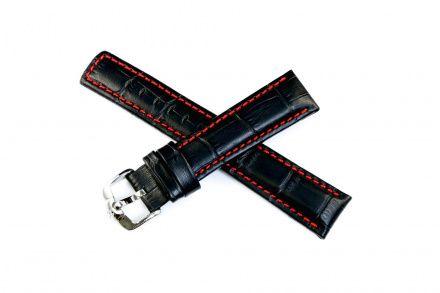 Czarny pasek skórzany 22 mm HIRSCH Grand Duke 02528050-2-22 (L)