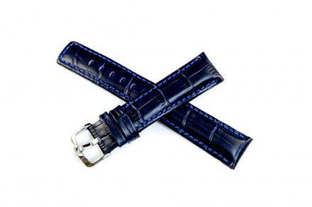 Niebieski pasek skórzany 22 mm HIRSCH Grand Duke 02528080-2-22 (L)