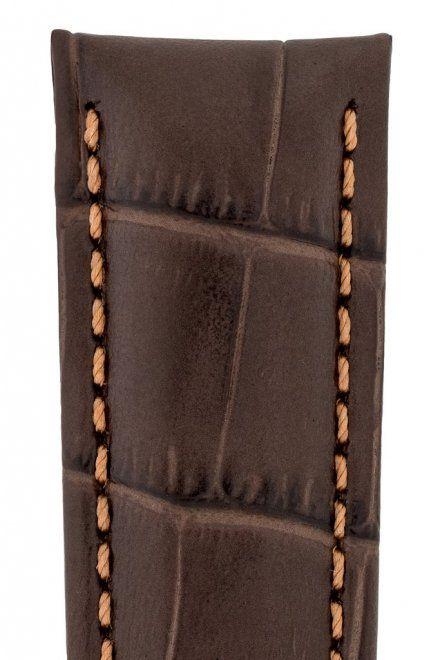 Brązowy pasek skórzany 20 mm HIRSCH Grand Duke 02528210-2-20 (XL)