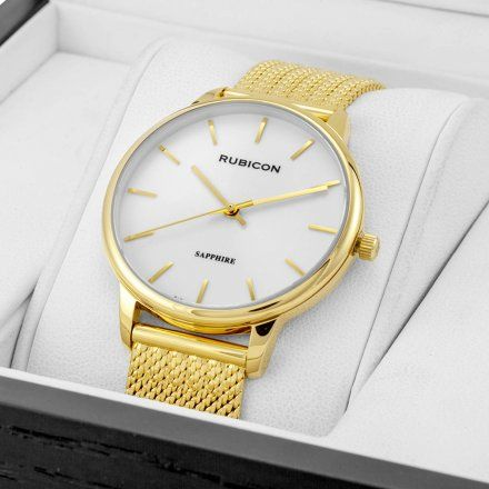 Zegarek damski Rubicon złoty z bransoletą RNBE53GISX03BX