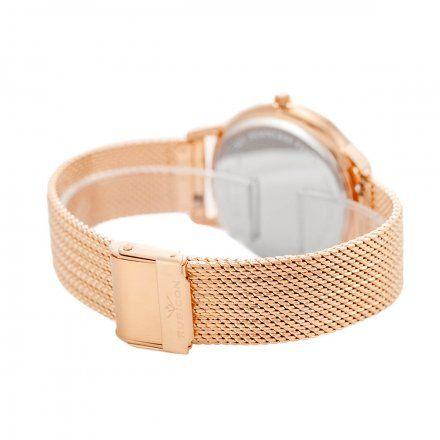 Zegarek damski Rubicon różowozłoty z bransoletą RNBE53RISX03BX