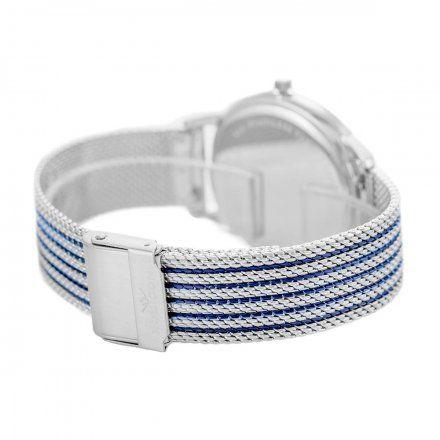 Zegarek damski Rubicon srebrny z bransoletą RNBE53SIDX03BX