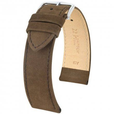 Brązowy pasek skórzany 16  mm HIRSCH Osiris 03433110-2-16 (M)