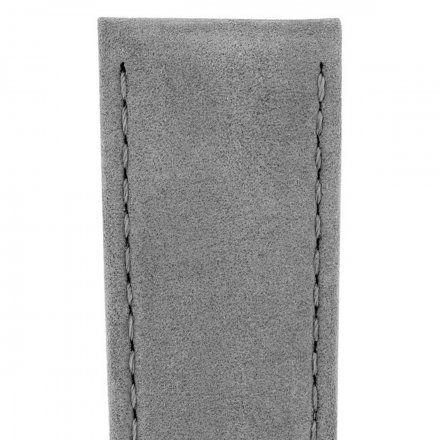 Szary pasek skórzany 16 mm HIRSCH Osiris 03433130-2-16 (M)