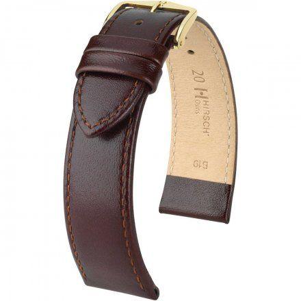 Brązowy pasek skórzany 19 mm HIRSCH Osiris 03475010-1-19 (L)